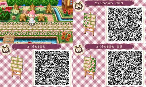 acnl flower qr codes paths cobblestone path with flowers on sides part 1 out of 3