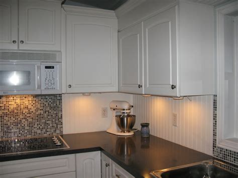 White Beadboard And Tile Backsplash More Fav S Pinterest Beadboard Kitchen Backsplash