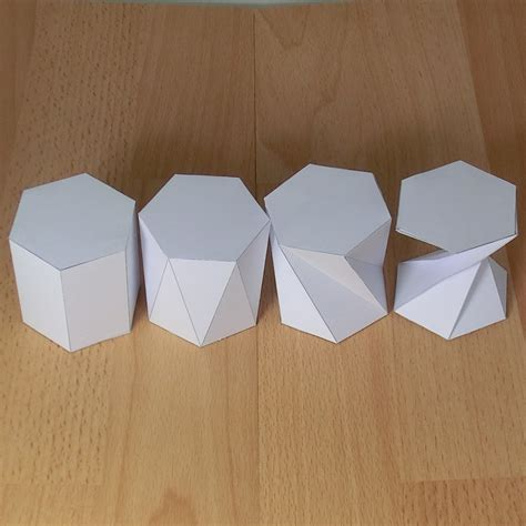 How To Make A Hexagonal Prism Out Of Paper - paper twisted hexagonal prisms