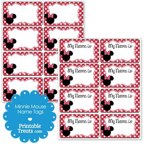 printable minnie mouse name tags printable minnie mouse name tags printable treats com