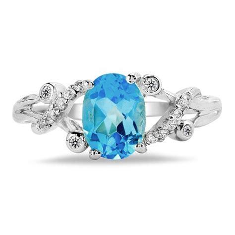 Dezenter Hochzeitsschmuck by Dezenter Silber Ring Mit Blauem Topas