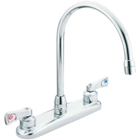 moen two handle kitchen faucet moen commercial 8287 two handle kitchen faucet plumbersstock