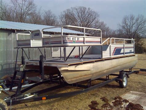 bowfishing boat build my first boat and build 18ft pontoon bowfishing plans