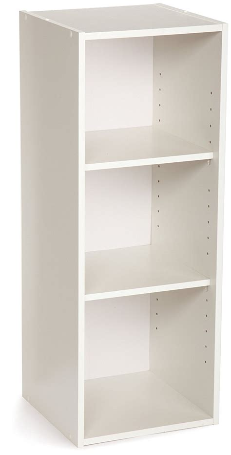 12 inch wide bookcase white closetmaid 8987 stackable 3 shelf organizer white ebay