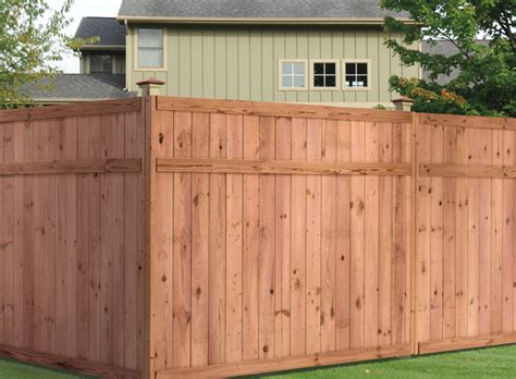 universal forest products privacy wood fence styles