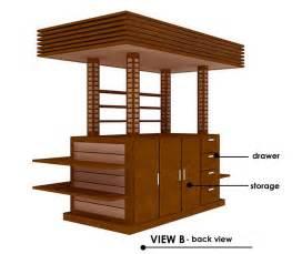 Small Restaurant Kitchen Layout Ideas - rekadecor interior portfolio kiosk design