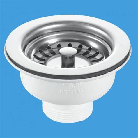kitchen sink waste traps 1 1 2 quot x 113mm flange basket strainer sink waste mcalpine
