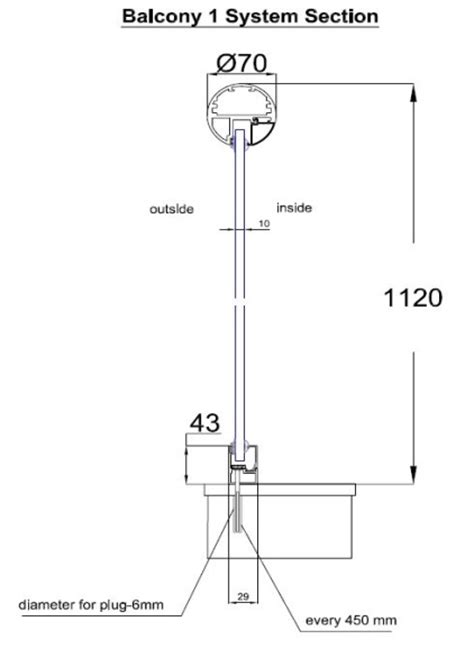 Installing Handrail Glass Balcony Fixings Specifications And Advice