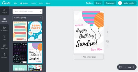 canva making poster design happy birthday posters online it s free canva