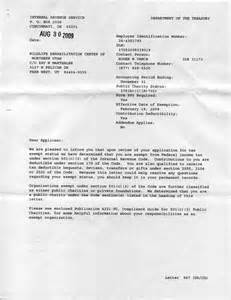 Irs Certification Letter letter sample tax exemption letter sample federal tax exempt letter