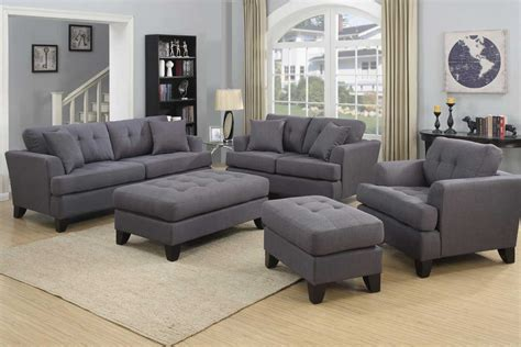 Grey Sofa And Loveseat Set Norwich Gray Sofa Set The Furniture Shack Discount