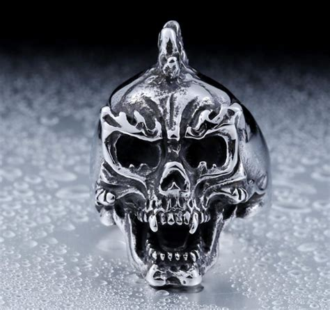 wholesale skull ring jewelry stainless steel