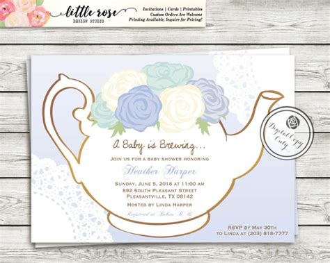 High Tea Baby Shower Invitation Templates by 41 Tea Invitation Templates Psd Ai Free