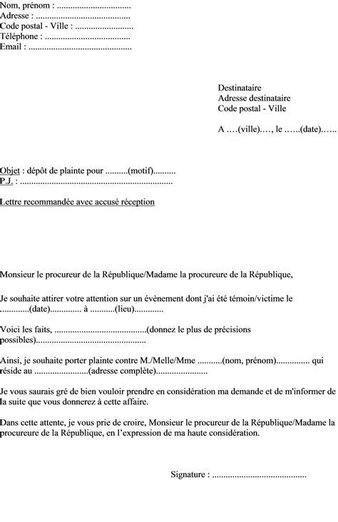 Exemple De Lettre Pour Plainte Contre X Sle Cover Letter Exemple De Lettre De Plainte