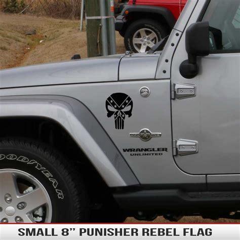 jeep rebel flag 8 quot universal punisher rebel flag alphavinyl