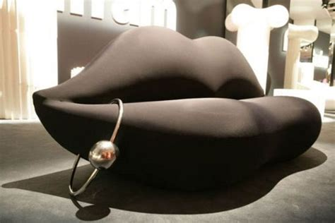 lip shaped couch human body home design inspired by the sexiest body parts