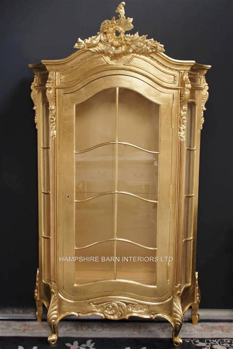 Ornate Display Cabinets an ornate silver leaf display cabinet also in gold leaf