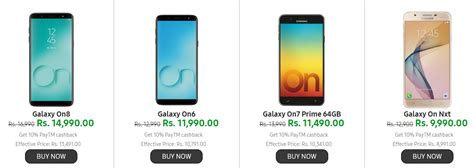mobile phone offers samsung mobile offers today get rs 9000 cashback on