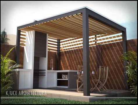 imagenes de asadores minimalistas terraza con asador
