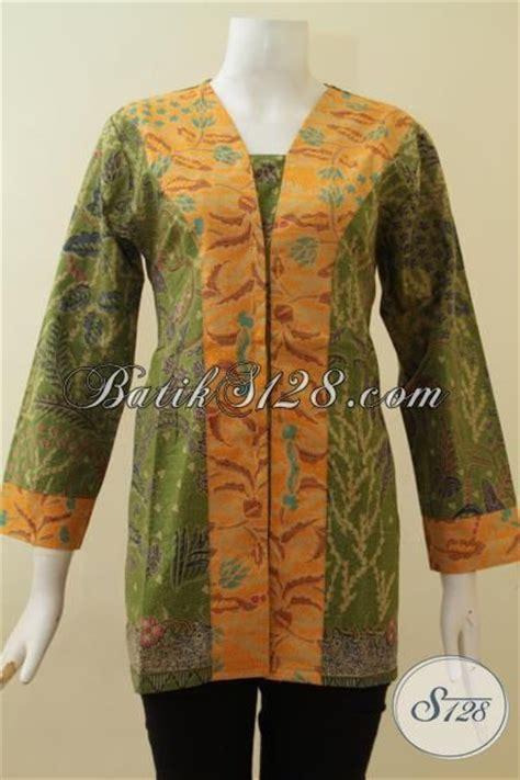 Baju Batik Warna Hijau warna hijau kuning cantik baju batik kombinasi model