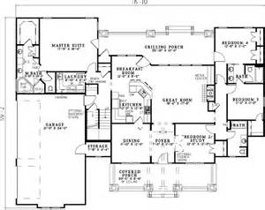 4 Bedroom Bungalow House Designs Bungalow Style House Plans 2373 Square Foot Home 1 Story 4 Bedroom And 3 Bath 3 Garage