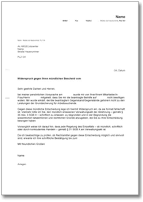 Musterbrief Einspruch Nebenkostenabrechnung Widerspruch Bei Der Arge De Musterbrief