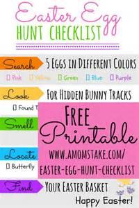 scavenger hunt checklist template printable easter egg hunt checklist a s take