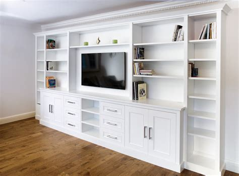 hand crafted built in tv wall unit by natural woodworks built in tv media units