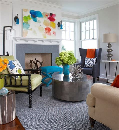 colorful family rooms how to pull off an eclectic look in a living room