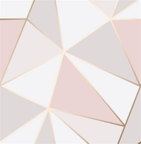 Aquascape Logo Fine Decor Wallpaper Apex Geometric Rose Gold Fd41993