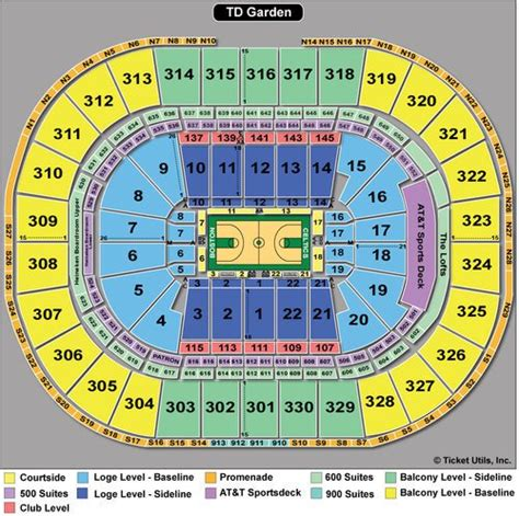 Celtics Floor Plan | boston celtics seating chart td garden boston ma seating