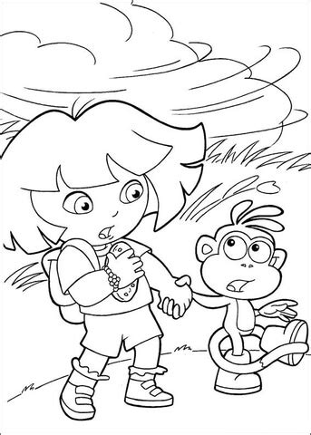 windy weather coloring coloring pages