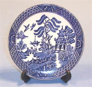 Antique Chinese Porcelain Vases Willow Pattern Coasters Set Of 4 Collectable China