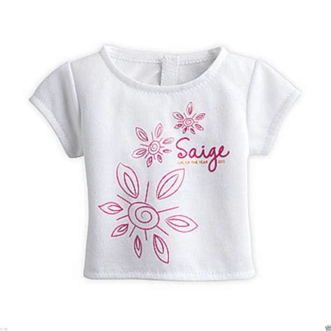 White T Shirt 2013 by American Saige White T Shirt For Doll New Floral Print Goty 2013 T Shirt Ebay