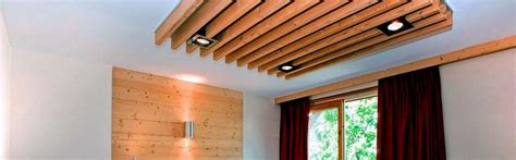 Curtains Dining Room False Ceiling With Wooden Batten Gharexpert