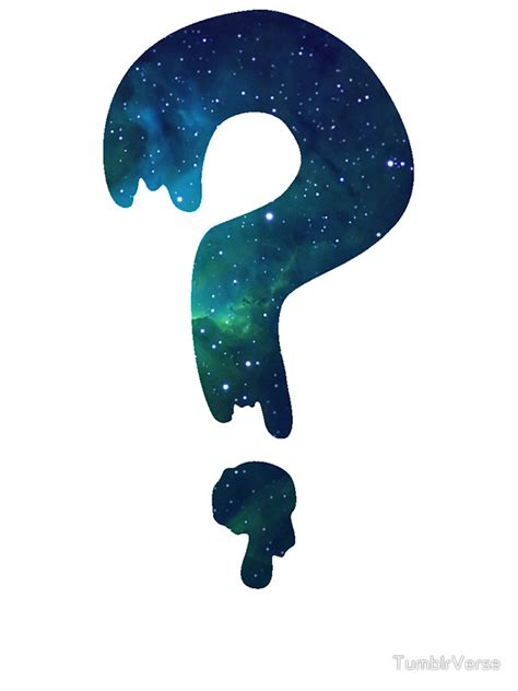 Small Home Decor by Quot Soos Question Mark Galaxy Print Quot Stickers By Tumblrverse