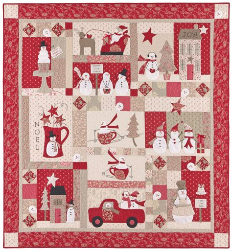 Bunny Hill Quilt Patterns by Merry Merry Snowmen Applique Quilts Patterns