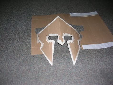 how to make a helmet cardboard spartan helmet