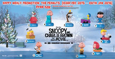 Mcd Snoopy And Brown Woodstock free peanuts figurines with mcdonald s happy meal the