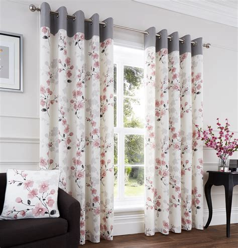 Blush Pink Curtains Blush Ready Made Eyelet Curtains Harry Corry Limited