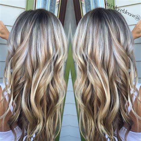platinum blonde highlights with dark blonde lowlihhts platinum blonde with black lowlights dark brown lowlights