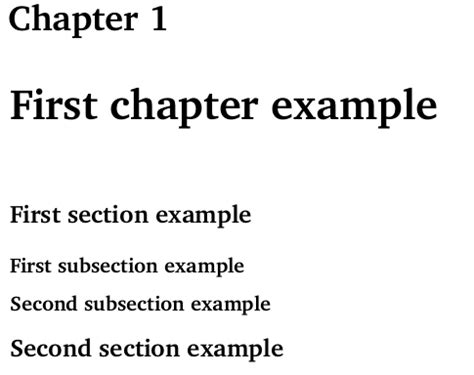 what are the first three subsections in the medicine section sectioning problem no section subsection label appears