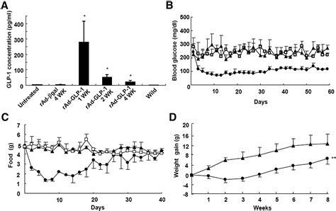 Serum Glucogen glucagon like peptide 1 gene therapy in obese diabetic mice results in term cure of