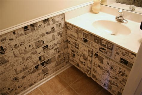 Wall Decoupage - recycle daily calendars to wallpaper a small space chica