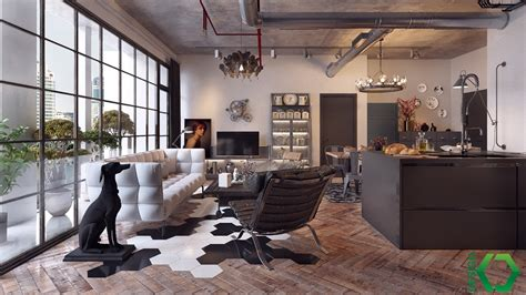 Flooring For Open Floor Plans Industrial Style For Living Room Design Apply With