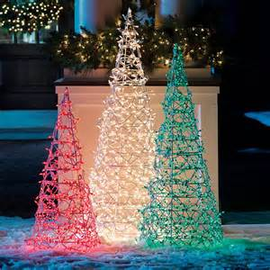 Cone tree frontgate christmas lights traditional outdoor lighting