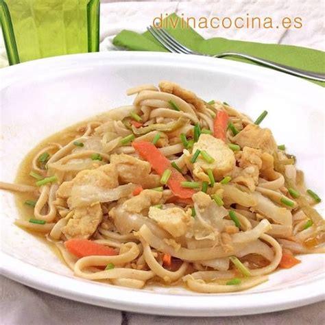 divina cocina recetas receta de tallarines con pollo y verduras divina cocina