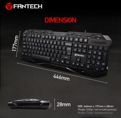 Keyboard Fantech K10 Fantech K10 Professional Usb Wired Colorful Backlight Gaming Water Resistant Keyboard Lazada