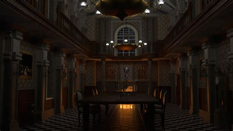 resident evil mansion dining renders hive rd