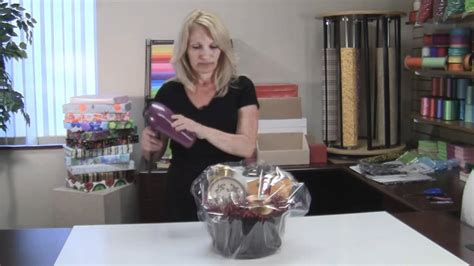 how to shrink wrap a gift basket with cellophane how to shrink wrap a gift basket